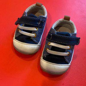 Blue Denim Size 3 Kids Shoes for Sale in Kirkland, WA