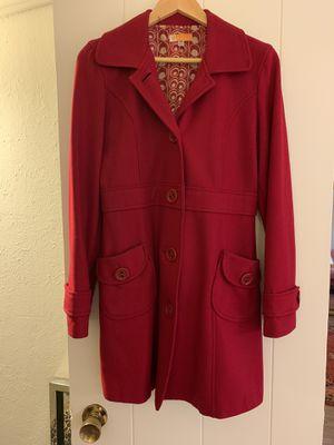 Red peacoat for Sale in Santa Cruz, CA