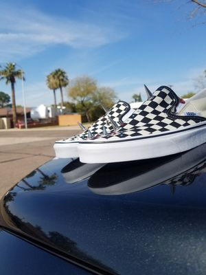 Vans Classic Slip On! CUSTOMED BY -TSISCUSTOMZ ( @tsisfamily) for Sale in Phoenix, AZ