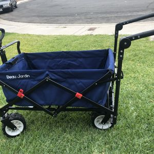 NEW $95 heavy duty Folding Push Pull Wagon Collapsible Cart 300 Pound for Sale in Ontario, CA