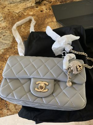 Chanel mini flap bag with crystal ball for Sale in San Antonio, TX