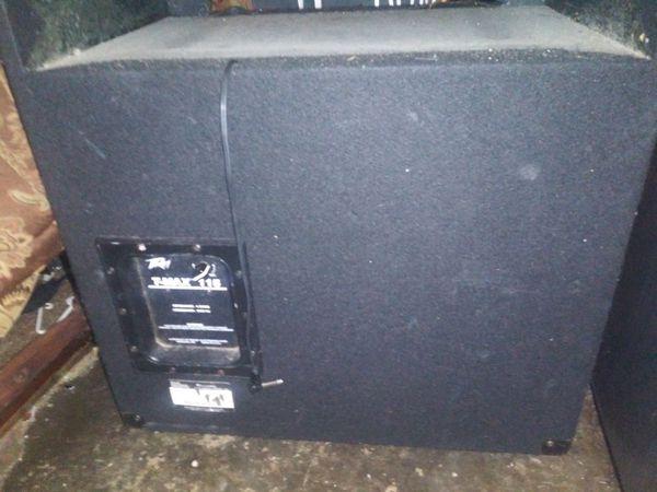 Large concert speaker on wheels