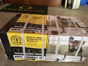 Adjustable dumbbell set 40lb total for Sale in Portland, OR