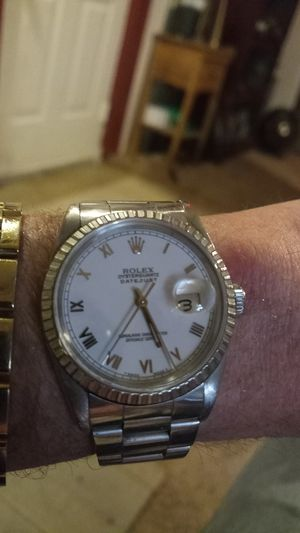 Rolex: Date just, Colorless Sapphire Crystal for Sale in Colorado Springs, CO