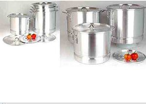 Uniware 8,12,16,20,24,32,40 QT Aluminum Steamer Pot Set for Sale in Miami Gardens, FL