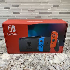 Nintendo Switch 32GB w/ Neon Blue and Neon Red Joy-Con V2 for Sale in Germantown, MD