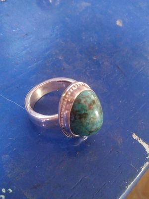Handmade Silver Turquoise ring for Sale in Payson, AZ
