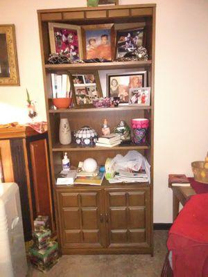 2-Bookshelves, Walnut color, (NOT partical board) for Sale in Newark, OH