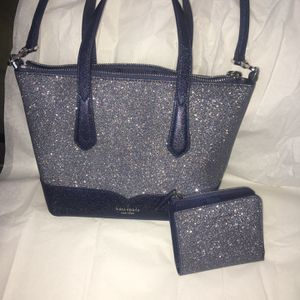 Blue Kate Spade purse and wallet set for Sale in Commerce City, CO