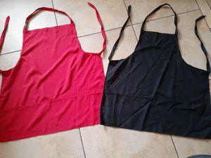 10 mandiles rojos y 7 negros mediano y grandes hechos con costurera 90 x los 17 mandiles,SON NUEVOS for Sale in Phoenix, AZ