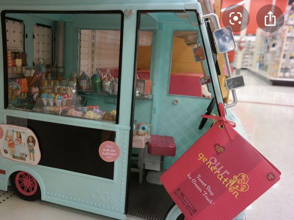 American girl doll ice cream truck