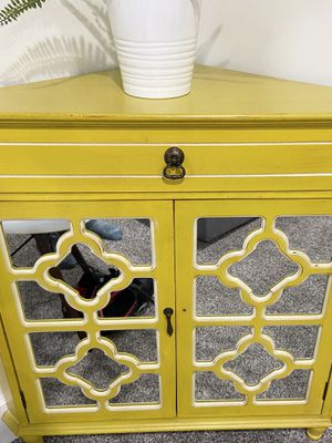 Yellow accent table/corner shelf for Sale in Seattle, WA