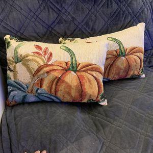 Tapestry Style Decor Pumpkin Pillows - 2 pc set for Sale in Tacoma, WA