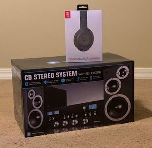 Stero system with studio 3 beats headphones for Sale in Sandy, UT