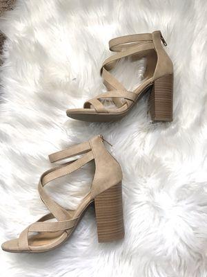 6.5 size women's tan heels for Sale in Rancho Cucamonga, CA