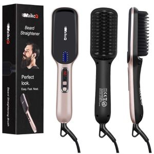 Beard Brush Quick Hair Straightener Heat Brush Ionic Hair Styling Comb LCD Display Adjustable Temp Dual Voltage for Sale in Monterey Park, CA