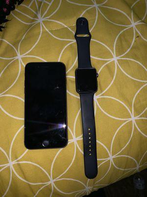 I cloud locked Apple Watch (series 2 -42mm) & iCloud locked iPhone 8 for Sale in Portland, OR