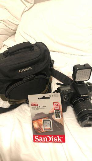 18-55mm lens + Genaray LED-2100 (Canon 70D Broken) for Sale in Playa del Rey, CA
