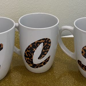 Get Your Own Personalized Initial Leopard Mug for Sale in Ocoee, FL