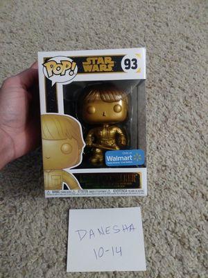 Star Wars Luke Skywalker, gold metallic, funko pop, walmart exclusive for Sale in Manassas, VA