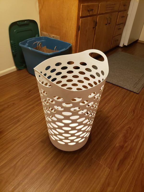 Tall Laundry Basket | White
