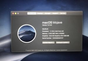 MacOS Mojave version 10.14.6 MacBook for Sale in Anchorage, AK