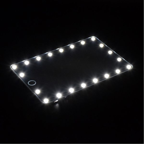21 LED Vanity Makeup Mirror with LED Light Portable Travel Compact Mirror Gift