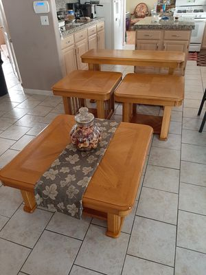 4 pc Wood Table Set for Sale in Mesa, AZ
