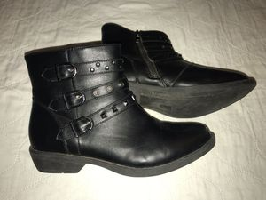 Girls black Biker Boots, Size 5 for Sale in Gilroy, CA