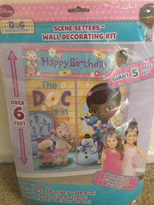 Doc mcstuffins birthday decoration supplies for Sale in Fremont, CA