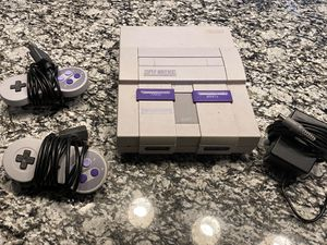 SNES w/ Two Controllers for Sale in Farmers Branch, TX