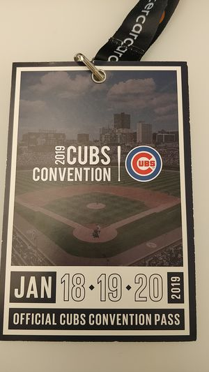 Chicago Cubs Convention - 1 Pass-$100 for Sale in Chicago, IL