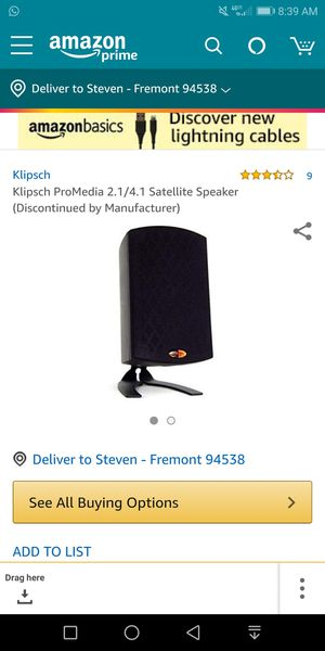 Klipsch speakers (2) and woofer for Sale in Los Angeles, CA