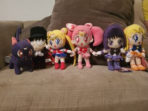 Sailor Moon Plushie 6 Set for Sale in San Antonio, TX