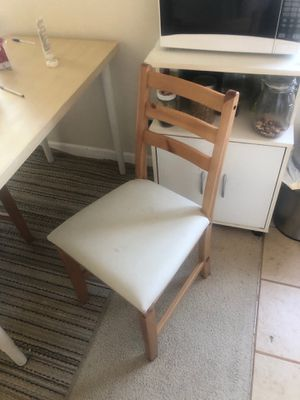Wood table chair for Sale in Seattle, WA