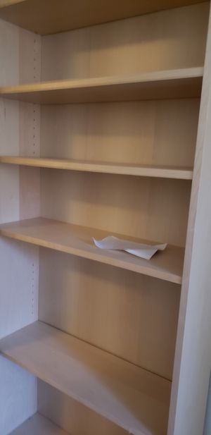 Tall IKEA blonde wood bookshelves for Sale in Bothell, WA