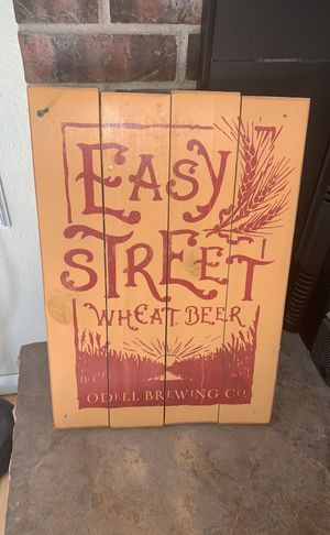 Easy street wheat beer wooden sign for Sale in Denver, CO