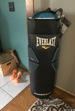 Punching bag and 8 # dumbbells for Sale in Portland, OR