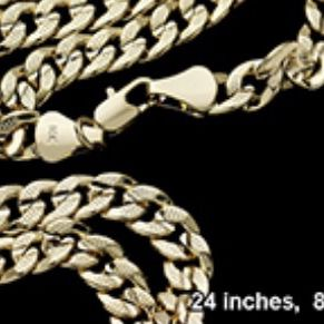 24 inch 14 karat gold plated 8 mm chain for Sale in Beverly Hills, CA