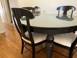 Glass top dining table for Sale in Boonton, NJ