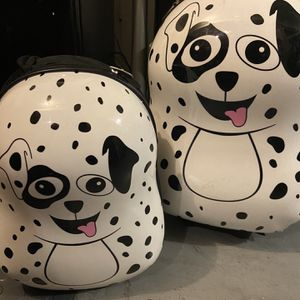 Doggie Rolling Kids Luggage With Small Backpack for Sale in Garden Grove, CA