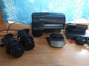 Lot of filters and air pump - Aquarium equipment - Great condition for Sale in Renton, WA