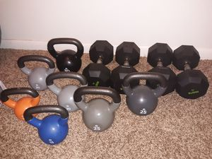 Kettlebells and Dumbbells for Sale in Greensburg, PA