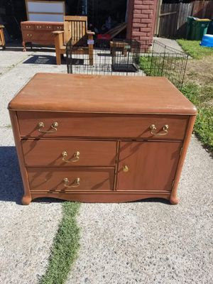 Small antique dresser. Measurements are 2 feet tall, 34 inches long 21 inches deep for Sale in Stockton, CA
