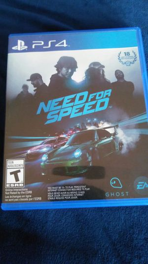 PlayStation 4 Need for Speed for Sale in Chicago, IL