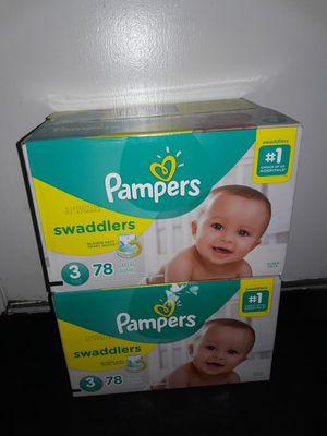 Pampers Swaddlers Size 3 (78 diapers): 2 boxes for $42 I will not accept less. for Sale in Dallas, TX