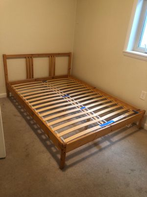 IKEA full size mattress, Bedframe, and box set for Sale in Aurora, CO
