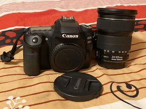 Canon - EOS 80D DSLR camera with 24-105 IS STM stander Zoom Lens for Sale in Houston, TX