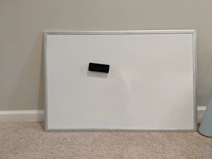Large white magnetic board with magnetic eraser for Sale in Olney, MD