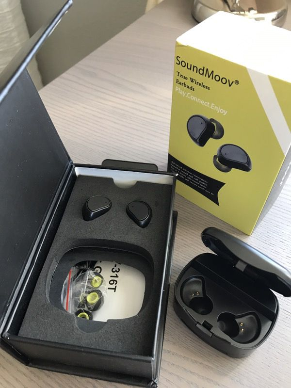 aa6f55cb183 Wireless Earbuds, Soundmoov Truly Bluetooth Earphones with Charging ...
